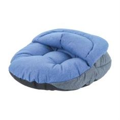 Домики, лежаки, переноски, когтеточки Лежанка-нора для собак colour Pretty Pet серо-голубая 45х48см