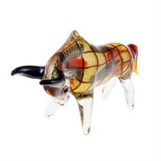 Предметы интерьера Фигурка Art glass бык 30х27см