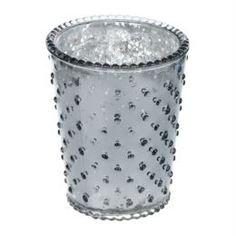 Свечи, подсвечники, аромалампы Подсвечник Hakbijl glass silver smoke д10.5см 12.5см