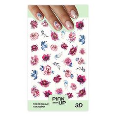 Наклейки для ногтей PINK UP DECOR 3D переводные тон 660
