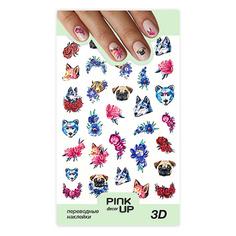 Наклейки для ногтей PINK UP DECOR 3D переводные тон 657