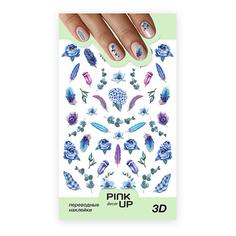Наклейки для ногтей PINK UP DECOR 3D переводные тон 661
