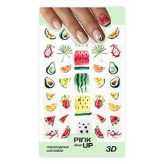 Наклейки для ногтей PINK UP DECOR 3D переводные тон 654
