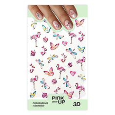 Наклейки для ногтей PINK UP DECOR 3D переводные тон 653