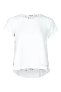 Белая футболка с вышивкой сзади Blugirl