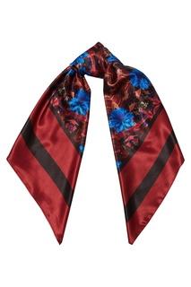 Красный платок с узором Galina Podzolko