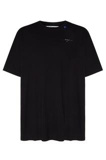 Черная футболка с логотипом Off White