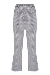 Клетчатые брюки из хлопка Miu Miu