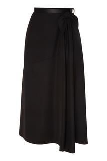 Черная юбка с бантом Prada