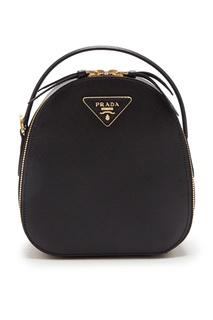 Черный рюкзак Odette Prada