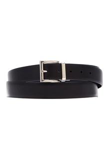 Черный кожаный ремень Prada