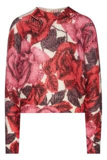 Джемпер с цветочным рисунком Prada