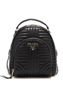 Черный кожаный рюкзак Diagramme Prada