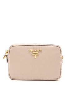 Пудровая сумка-кроссбоди Prada