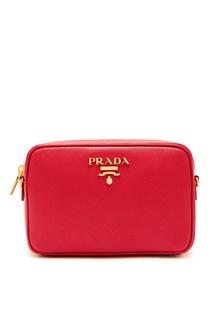 Красная сумка-кроссбоди Prada