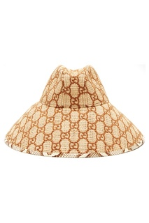 Бежевая шляпа с монограммой GG Gucci