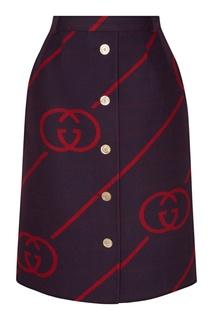 Двухсторонняя юбка с монограммами GG Gucci