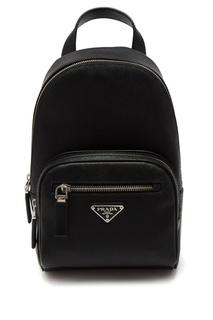Сафьяновый рюкзак на одно плечо Prada