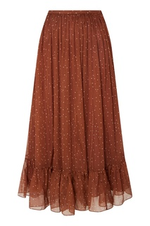 Коричневая юбка в горошек Alena Akhmadullina