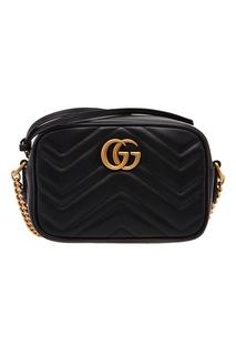 Черная сумка с логотипом GG Marmont Gucci