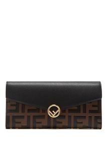 Кожаный кошелек с монограммами Fendi