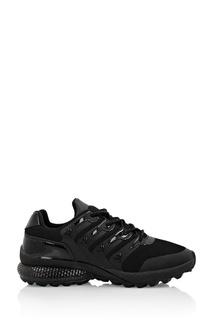 Черные текстильные кроссовки с отделкой Philipp Plein