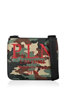 Камуфляжная сумка-кроссбоди с отделкой Philipp Plein
