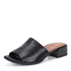 Черные кожаные мюли Tamaris