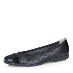 Черные кожаные балетки Caprice