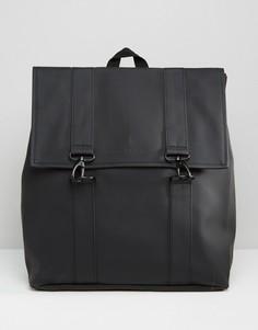Черный рюкзак Rains MSN - Черный