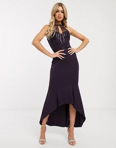 Платье миди с пайетками Lipsy - Фиолетовый