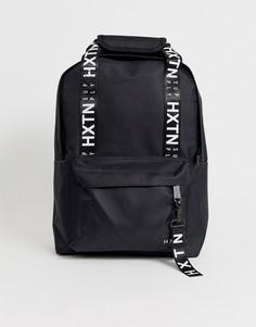 Черный рюкзак с фирменной лентой HXTN Supply - Черный