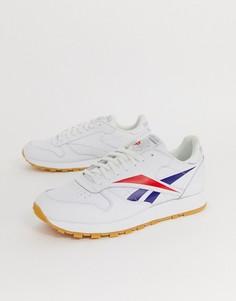 Белые классические кожаные кроссовки с логотипом Reebok - Белый