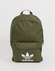 Рюкзак хаки с логотипом adidas Originals - Зеленый