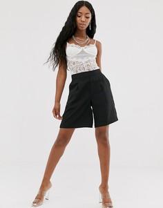 Черные шорты-бермуды в строгом стиле Na-kd - Черный