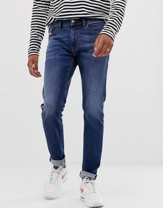 Стретчевые выбеленные джинсы слим Diesel Thommer 082AZ - Синий