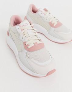 Бежевые кроссовки с пастельно-розовыми вставками Puma RS 9.8 Space - Розовый