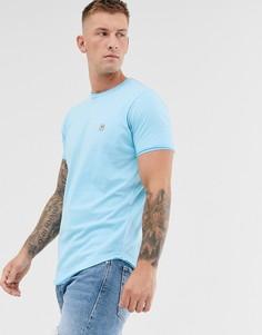 Длинная футболка с необработанными краями Le Breve - Синий