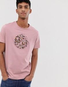 Розовая футболка с логотипом с цветочным принтом Pretty Green - Розовый
