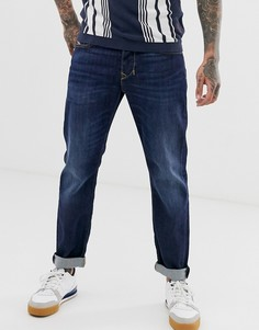 Темные суженные джинсы классического кроя Diesel Larkee-Beex 082AY - Синий