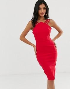 Платье миди с ремешками Vesper - Красный