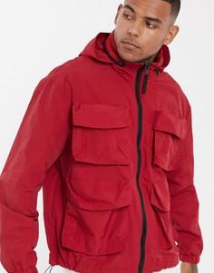 Красная куртка в стиле милитари с воротником-труба ASOS DESIGN - Красный