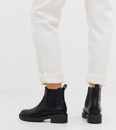 Черные массивные ботинки челси New Look Wide Fit - Черный
