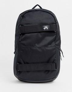 Черный рюкзак с ремешками для скейтборда Nike SB - Черный