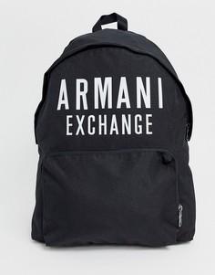 Черный нейлоновый рюкзак с логотипом Armani Exchange - Черный