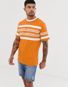 Оранжевая футболка с полосой на груди Native Youth - Желтый