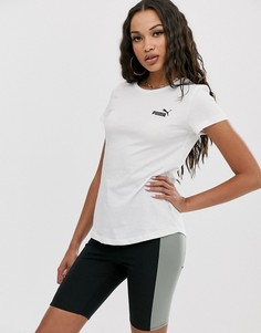 Белая футболка с маленьким логотипом Puma Essentials - Белый