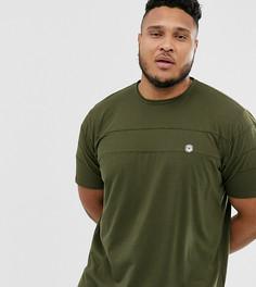 Удлиненная футболка со вставками и закругленным краем Le Breve Plus - Зеленый