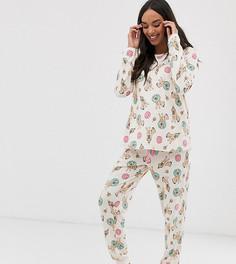 Пижама с брюками и принтом Chelsea Peers Maternity - Розовый