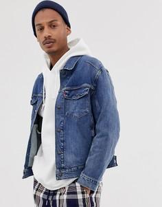 Выбеленная джинсовая куртка Levis Engineered - Синий